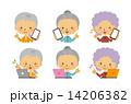 おばあさん バリエーション スマホのイラスト 14206382