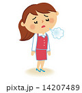女性社員 ピンク1 14207489