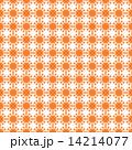 オレンジのフラワーパターン 白背景 14214077