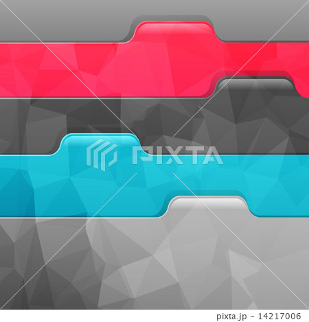 Business geometric background. Paper numbered banners.のイラスト素材 [14217006] - PIXTA