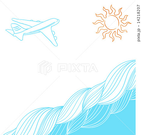 Travel background for you design. Vector collor Illustration.のイラスト素材 [14218207] - PIXTA