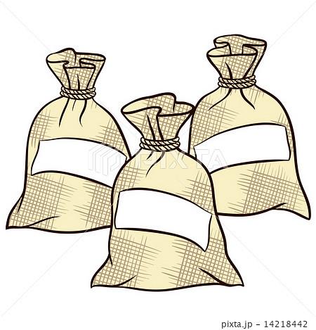 vector sacks of flour sugar and saltのイラスト素材 14218442 pixta