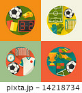 Sports backgrounds with soccer (football) flat icons 14218734