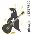 アデリーペンギン エレキ ギターのイラスト 14237690