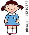 子供 園児 女の子のイラスト 14240372