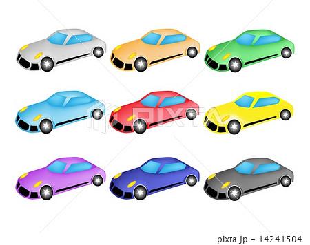 Colorful Illustration Set of Sports Car Icon 14241504