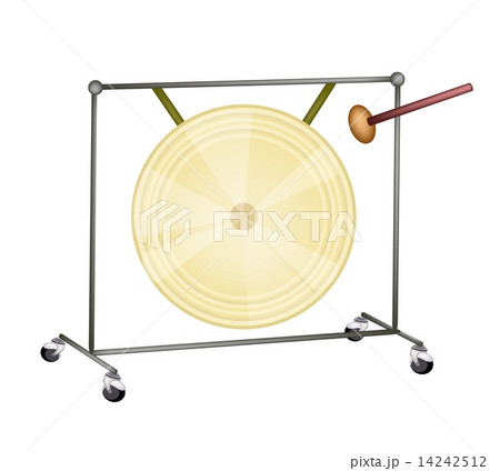 A Musical Gong Isolated on White Backgroundのイラスト素材 [14242512] - PIXTA