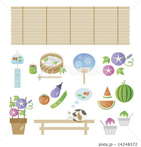 SetOfJapaneseSummerElements 14248372