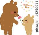 カーネーション 熊 母の日のイラスト 14250911