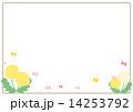 背景 フレーム 蝶のイラスト 14253792
