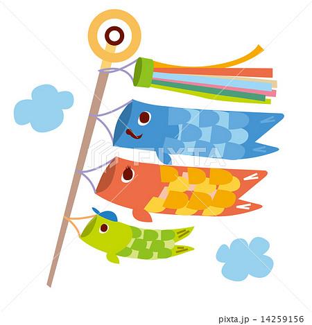 5月こどもの日 鯉のぼりのイラスト素材