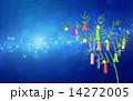 天の川 笹飾り 七夕祭りのイラスト 14272005