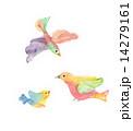 インコ 家族 小鳥のイラスト 14279161