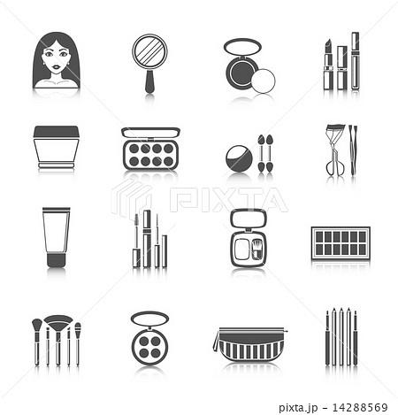 Makeup Icons Blackのイラスト素材 [14288569] - PIXTA