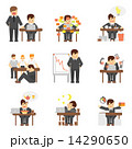 セット アイコン ストレスのイラスト 14290650