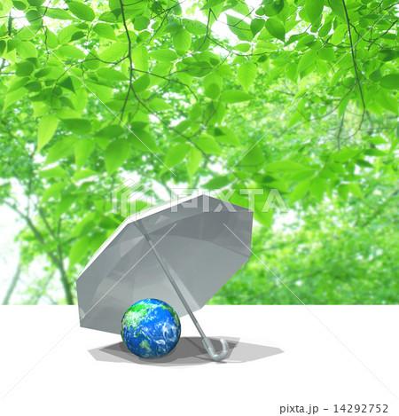 傘の中の地球 14292752