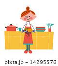 キッチン 女性 14295576