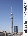 電波塔 スカイツリー 鉄塔の写真 14296024