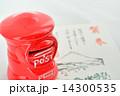 郵便ポストと年賀状 14300535