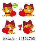ネコとーく。赤ずきん ハート 14301703