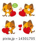 ベクター 三毛猫 ネコのイラスト 14301705
