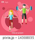 トレーニング ワークアウト 運動のイラスト 14308035