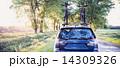林道 森林 車の写真 14309326