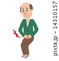 腹痛に苦しむ年配の男性 14310157