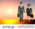日本人のサラリーマン&OL(ビジネスイメージ、シーン) 14314330