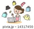 ネットショッピング 通信販売 インターネットのイラスト 14317450
