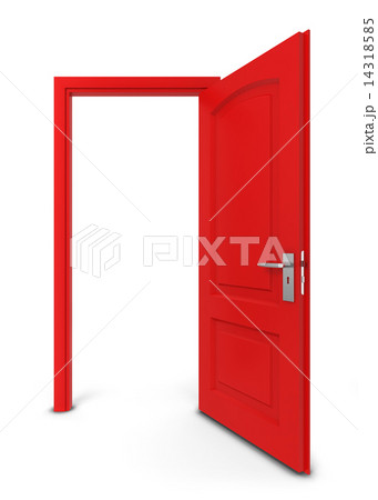 opened doorのイラスト素材 14318585 pixta