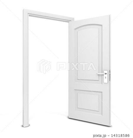 opened doorのイラスト素材 14318586 pixta