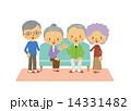 シニア 高齢者 年配 ソファー 座る 14331482