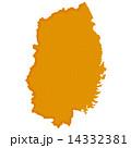 岩手県 岩手県地図 岩手のイラスト 14332381