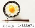 卵かけご飯 お茶碗 生タマゴの写真 14333971
