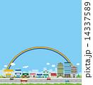 建物 車 街 都市 虹 風景 14337589