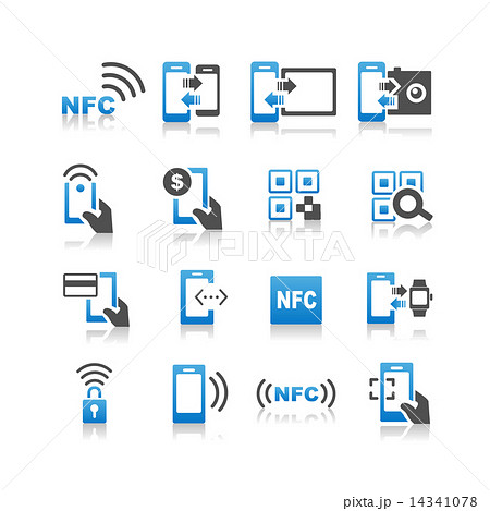 NFC technolgy icon set 14341078