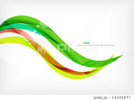 Green and red line swirlsのイラスト素材 [14345877] - PIXTA