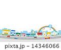 街 繁華街 虹 風景 建物 14346066