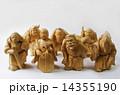 木彫り 木製 七福神の写真 14355190