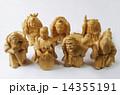 木彫り 木製 七福神の写真 14355191