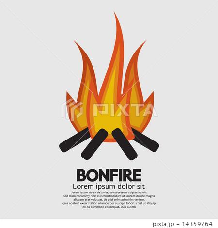 Isolated Bonfire Graphicのイラスト素材 [14359764] - PIXTA