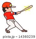 バッティング バッター 人物のイラスト 14360239