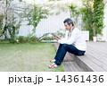 40代 タブレット 男性の写真 14361436