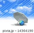 紫外線 日よけ 傘のイラスト 14364190