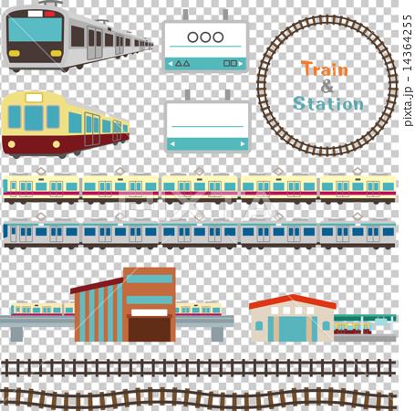 矢量 火車 電氣列車 14364255