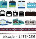 電車と新幹線のアイコンとライン 14364256