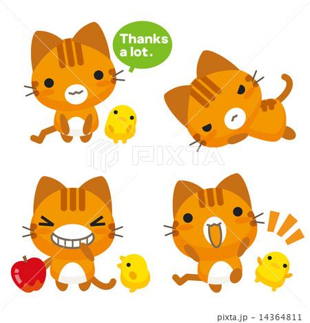 ネコとーく。トラ猫 14364811