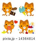 トラ猫 ベクター ケーキのイラスト 14364814