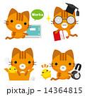 ベクター ネコ キャラクターのイラスト 14364815